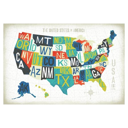 Beautiful Colorful Letterpress State Map of The United States by Michael on topography of states, unification of states, blank map states, region of states, painting of states, 4 corners states, midwest region states, chart of states, death penalty states, products of states, poster of states, globe of states, mississippi river states, atlas of states, latin america states, coat of arms of states, new jersey states, latitude of states, mid west states,