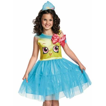 Girls Shopkins Cupcake Queen Halloween Costume Dress & Headband (Cupcake Costume Diy)
