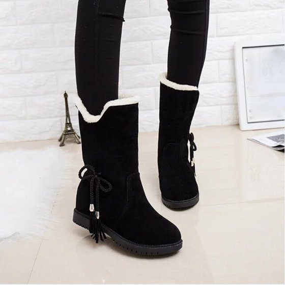 74e4061fe Snow Boots Winter Ankle Boots Women Shoes Heels Winter Boots Fashion Shoes  BK/37