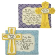 Blossom Bucket 2 Piece 'Blessings Cross' Plaque Wall Decor Set