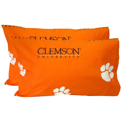 College Covers Collegiate NCAA Clemson Tigers Pillowcase (Set of 2)