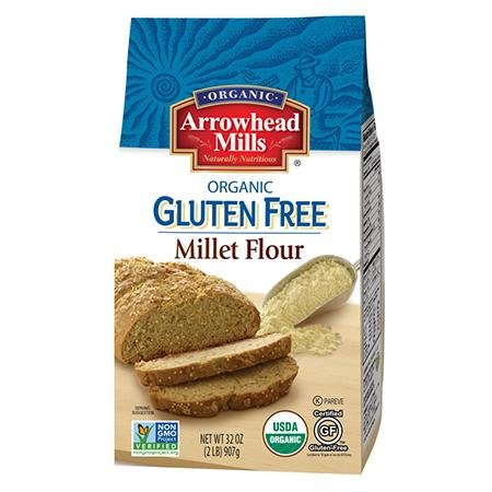 Arrowhead Mills Organic Wholewheat Millet Flour, 32 Oz