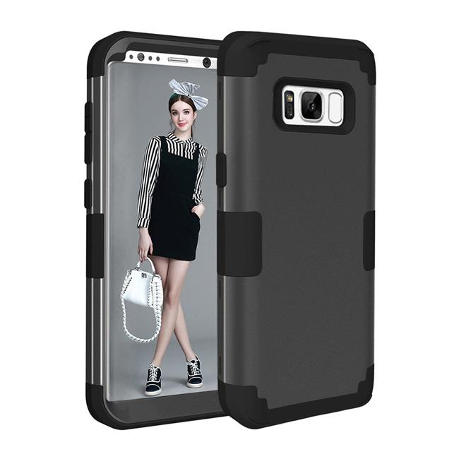 Tuff Luv H11-90 Tough 3 in 1 Armour Guard Layered Case for Samsung Galaxy S8 - Black - image 1 of 1