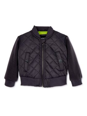 North Zone Baby and Toddler Boys Quilted Bomber Jacket