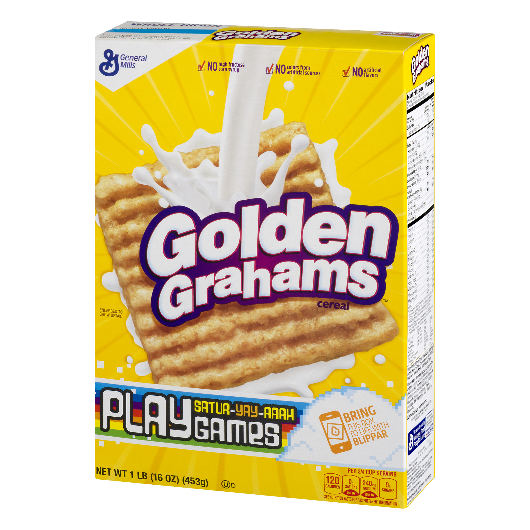 Golden Grahams Nutrition Facts Label