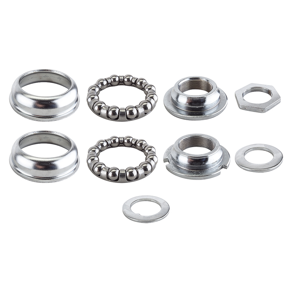 Sunlite 1 Piece 28tpi Silver 68mm Bottom Bracket Cup Set  with Bearings Included