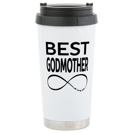 CafePress - BEST GODMOTHER EVER Travel Mug - Stainless Steel Travel Mug, Insulated 16 oz. Coffee