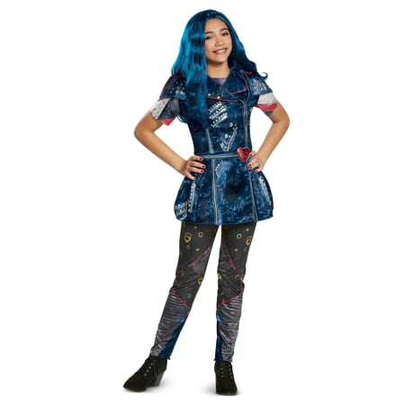 Couples Costumes Girls (Descendants 2 Girls' Evie Classic Isle Look)