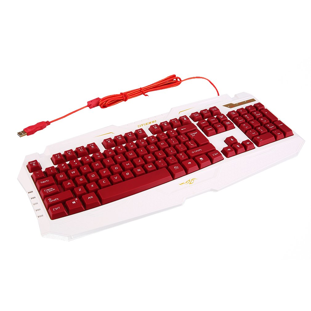 Professional Backlight Keyboard Ergonomic USB Wired Gamer LED Gaming Gamer Keyboard For PC Computer GX100