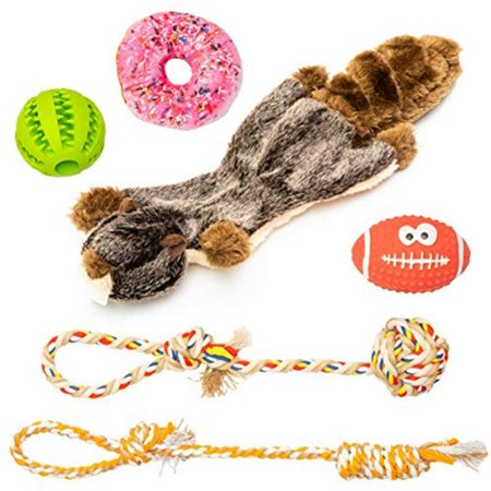 Pet Supplies JuJu Pets Small And Medium Dog Toys 6 Pack Set - Rubber Ball Latex