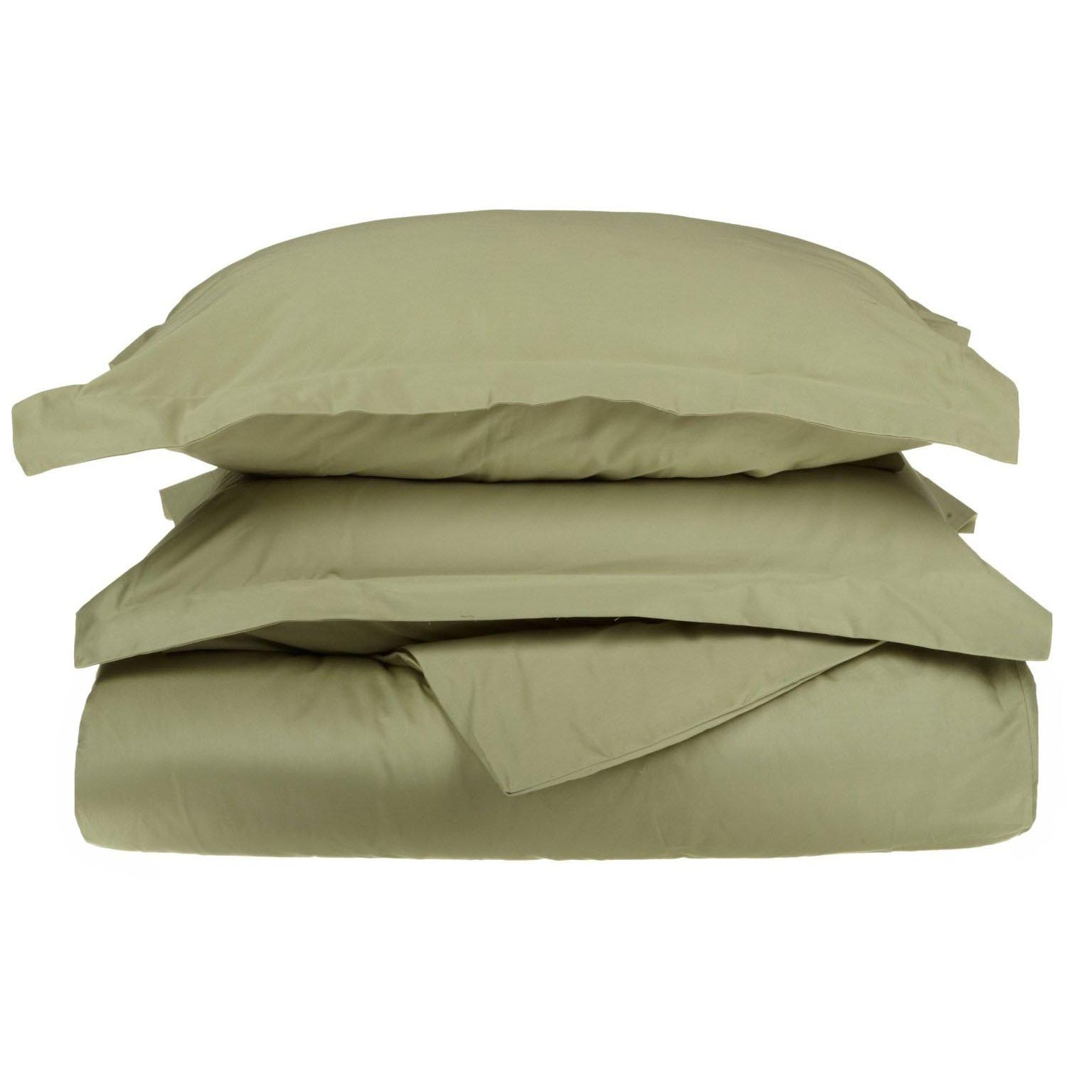 Superior 1200 Thread Count Single-Ply Egyptian Cotton Solid Duvet Cover Set