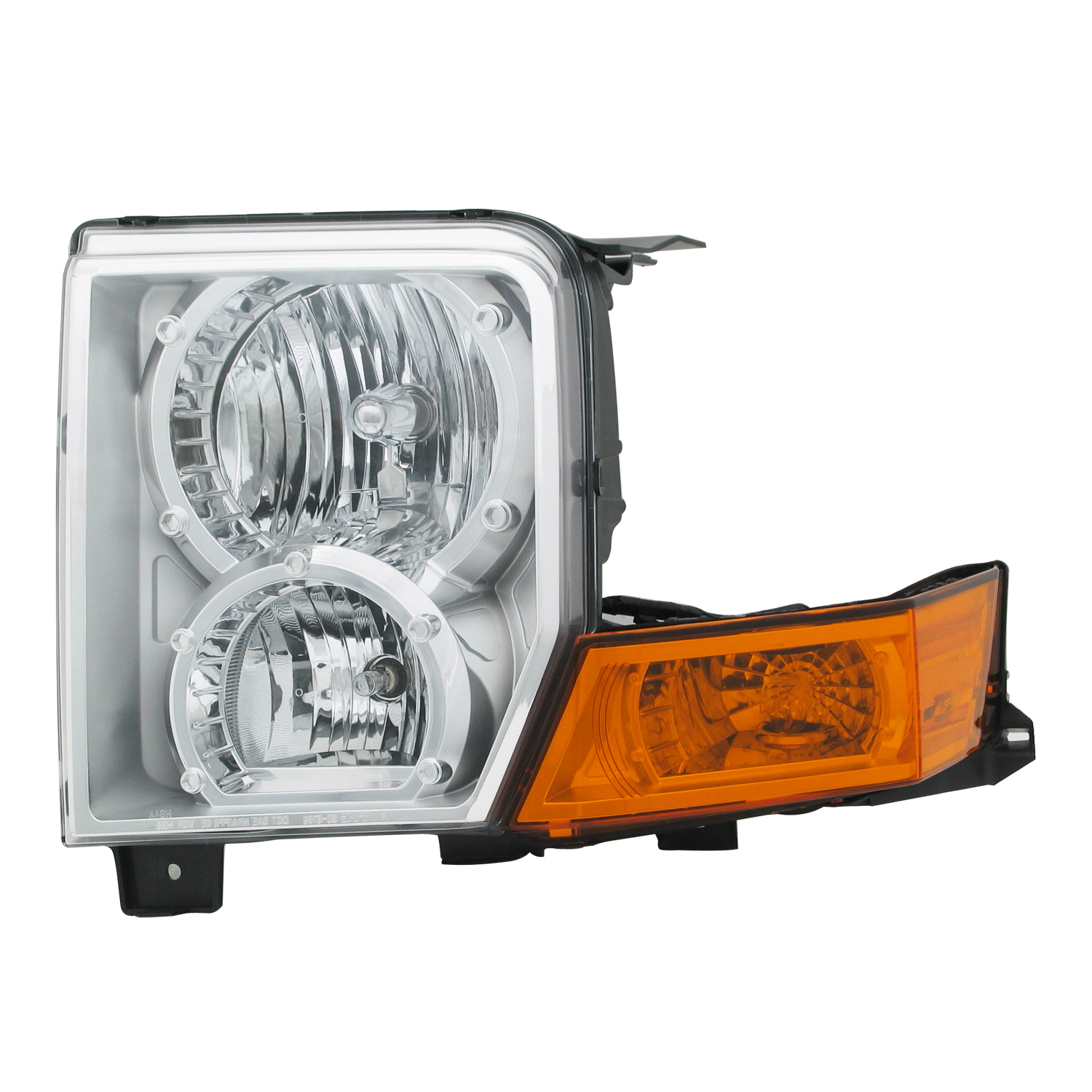 2006-2010 Jeep Commander Aftermarket Passenger Side Front Head Lamp Assembly 55396536AI by Premium Replacement