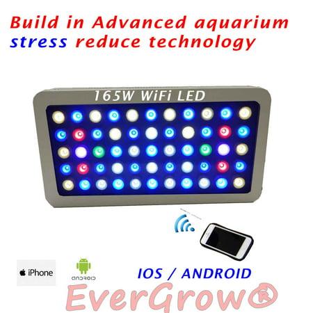 evergrow 165w wifi full spectrum grow fish tank reef coral led