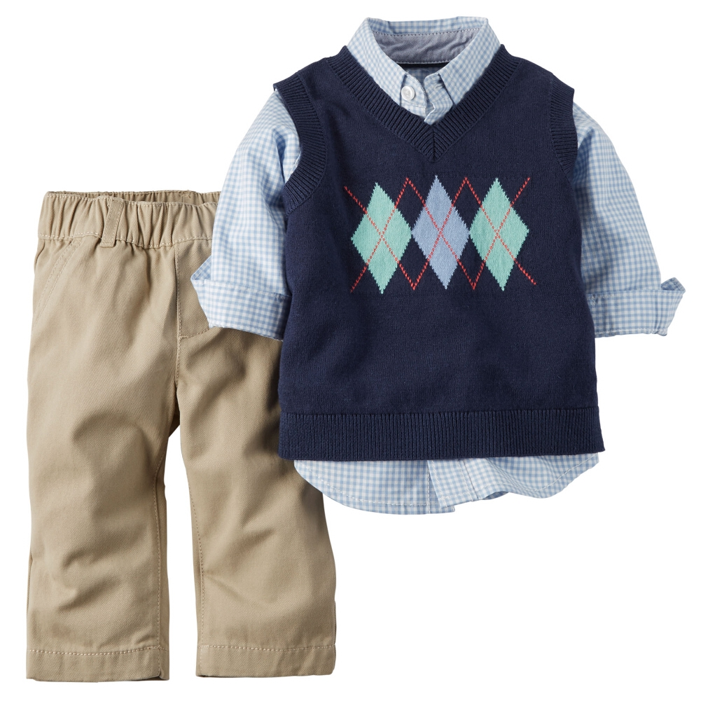 Carter's Baby Clothing Outfit Boys 3-Piece Sweater Vest S...