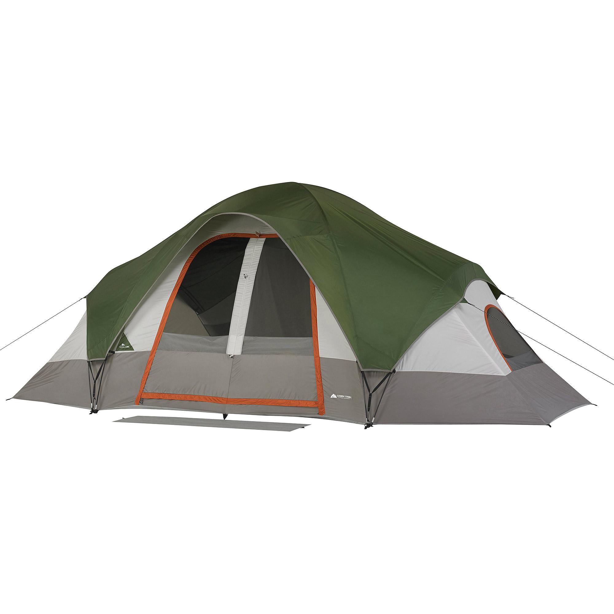 Ozark Trail 16' x 8' Eight-Person Tent, Green