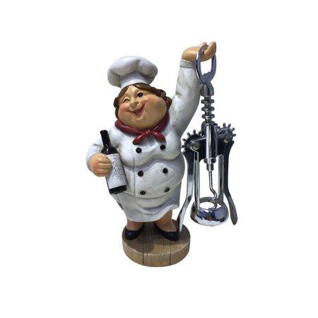 Wine Bodies Winking Fat Lady Italian Chef - Pottery Lady Figurine