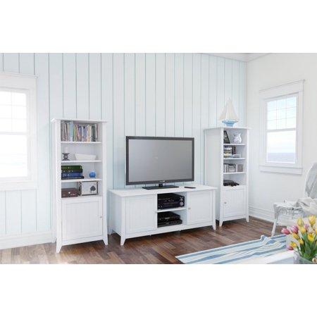 Vice Versa 58-inch TV Stand with Two Curio Cabinets