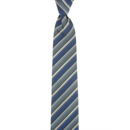 John Ashford Men's Blue Striped Tie (Ashford Stripes)