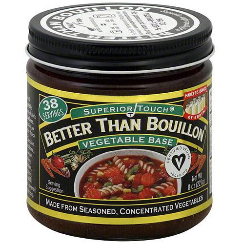 Superior Touch Better Than Bouillon Vegetable Base Bouillon, 8 oz (Pack of 6)