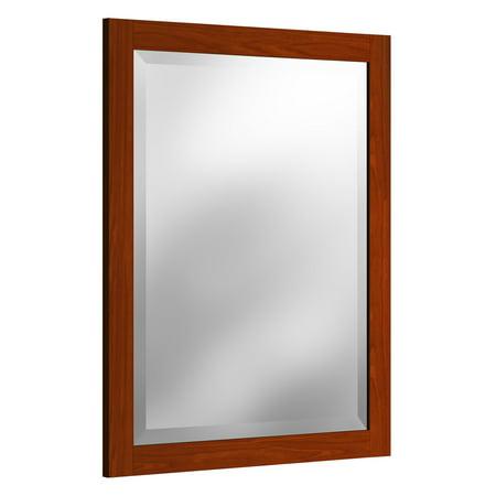 Alaterre 25 in. Framed Beveled Vanity Mirror
