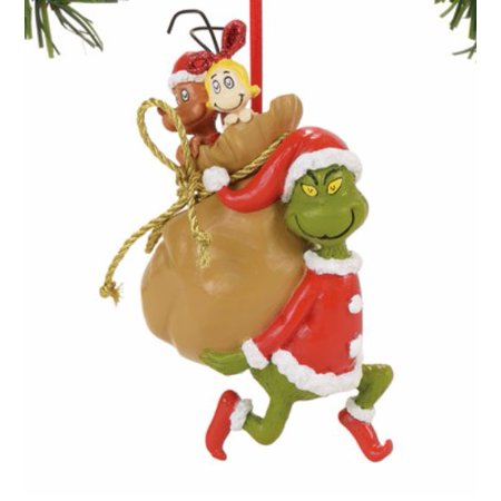 Department 56 The Grinch Santy Claus Stowaways Christmas Ornament 4057461 New](Grinch Christmas Decoration)