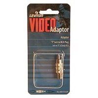 Leviton C5229 Video Adapter, 1-Inch Jack To 1 RCA Plus