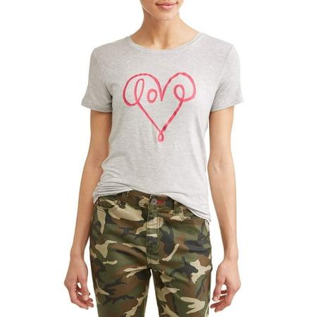 EV1 from Ellen DeGeneres love scribble short sleeve graphic tee women's