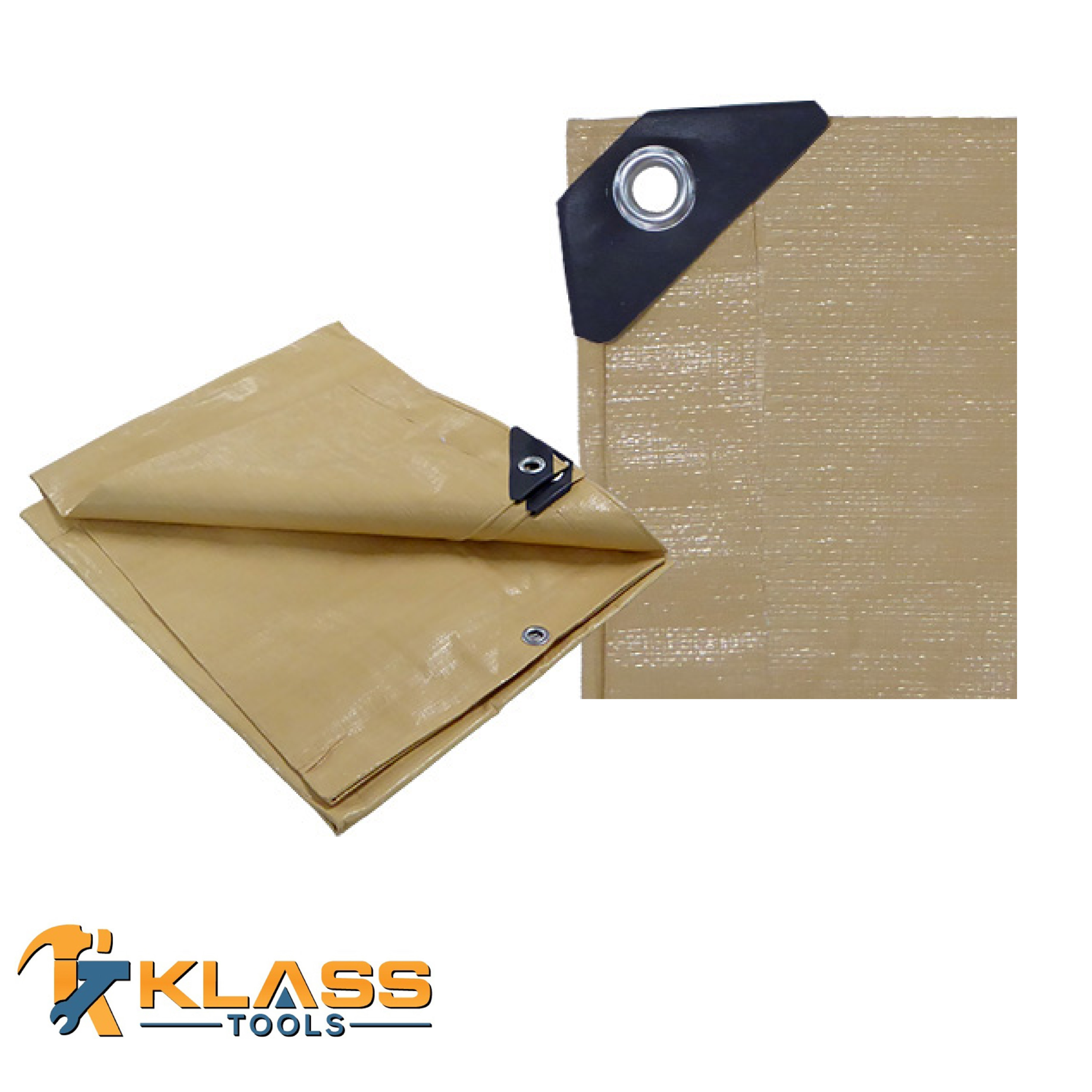 08 x 12 Feet Beige Tarp (Pack of 1)