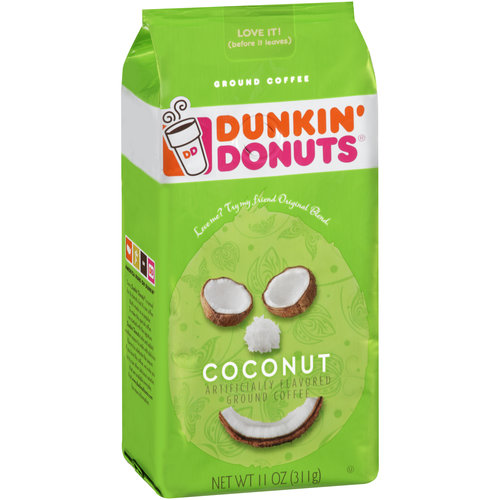 Dunkin' Donuts Coconut Ground Coffee, 11 oz