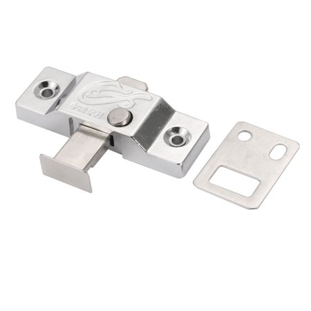 24mm Tongue Zinc Alloy Spring Bolt Latch Door Window Lock w Flat Plate 2pcs - image 3 of 5