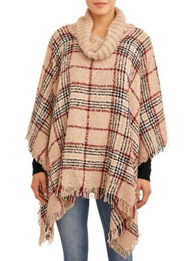 Time and Tru Cowl Neck Poncho