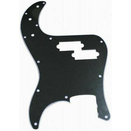 RP106B P-Bass Style Pickguard - Black, Replacement P Bass style pickguard By Retro Parts From USA (Retro Parts)