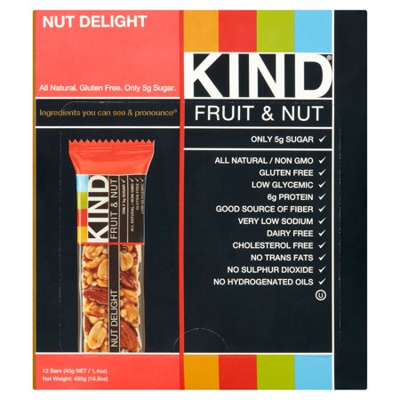 KIND Fruit & Nut Bars, Nut Delight, 1.4 Ounces, 12 Count