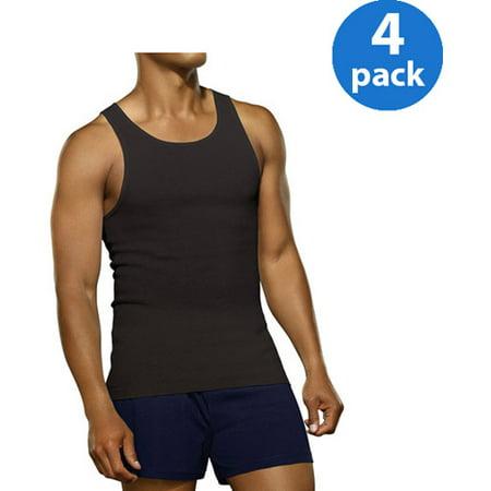 Fruit of the Loom Men's Black/Gray A-Shirts, 4-Pack - Walmart.com
