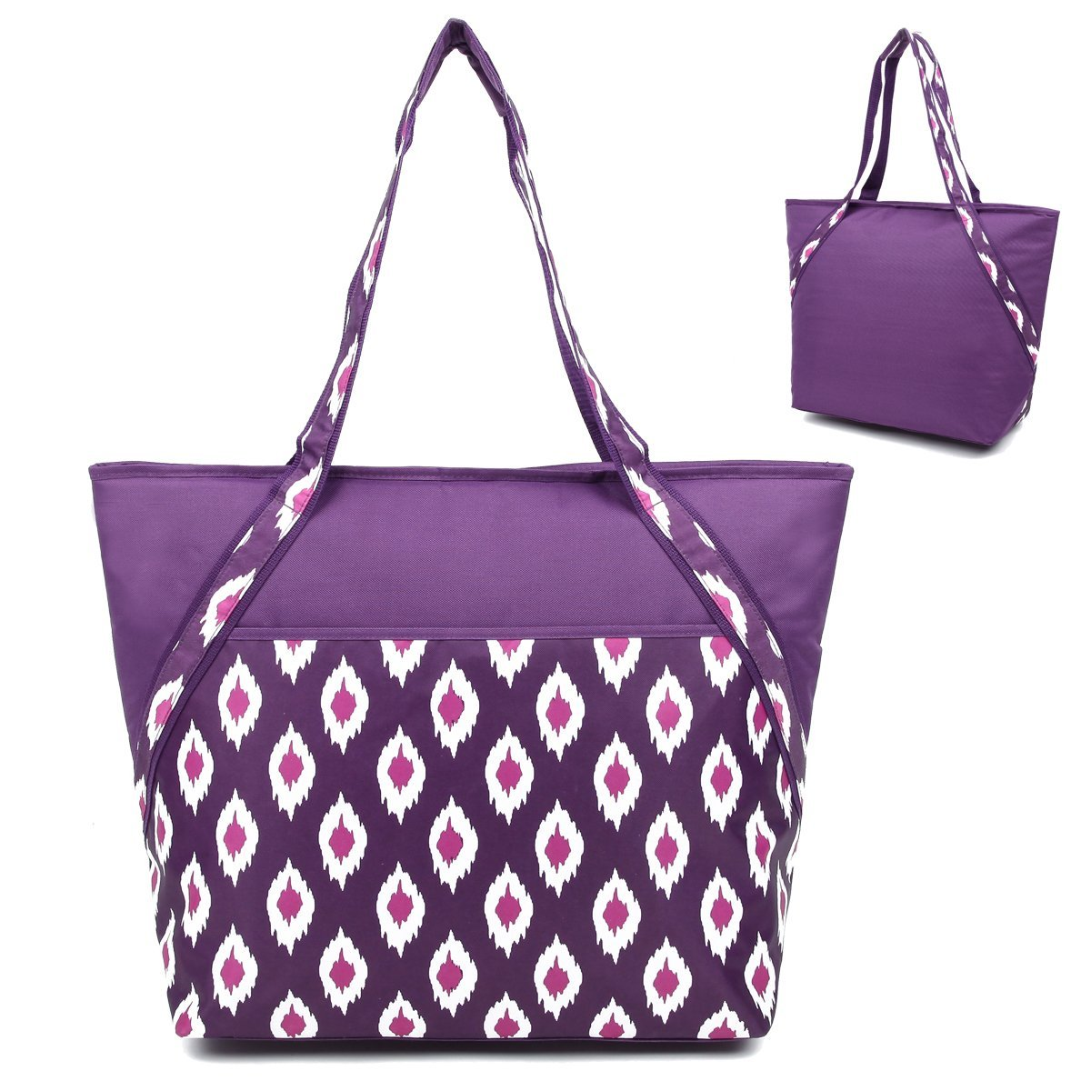 Super Hot/Cold 50-Can Insulated Cooler Picnic Lunch Tote ...