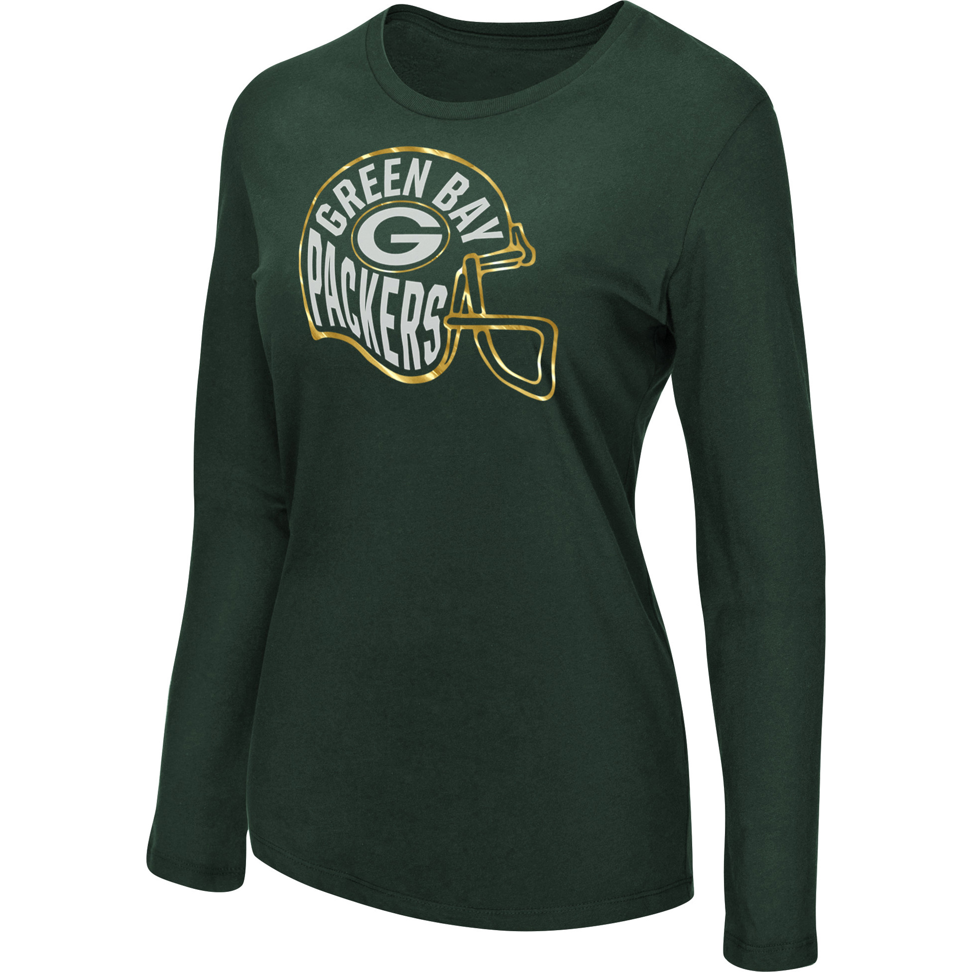Women's Majestic Green Green Bay Packers Turn it Loose Long Sleeve T-Shirt