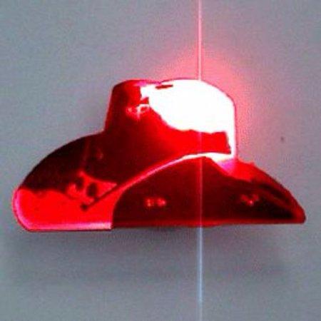 Red White And Blue Cowboy Hat (Black Cowboy Hat Flashing Body Light Lapel)