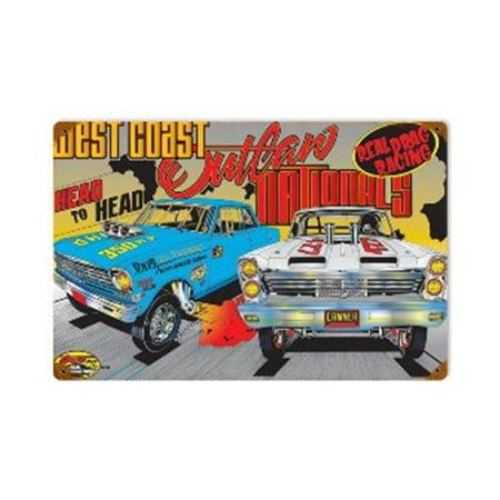 West Coast Outlaw Automotive Vintage Metal Sign - image 1 de 1