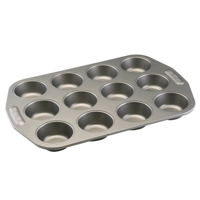 Circulon Nonstick Bakeware 12-Cup Muffin Pan, Gray