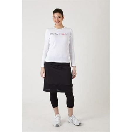 Snoga Athletics M6-BLK-S Mesh Trim Pencil Skirt With Attached Legging & Side Zipper Detail, Black - - Skirt And Legging
