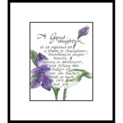 LPG Greetings Life Lines Granddaughter by Lori Voskuil-Dutter Framed Graphic Art