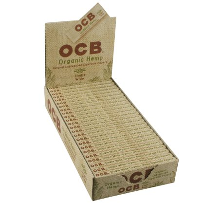 Ocb Rolling Papers - 24pc Display - OCB Organic Hemp Rolling Papers - Single Wide