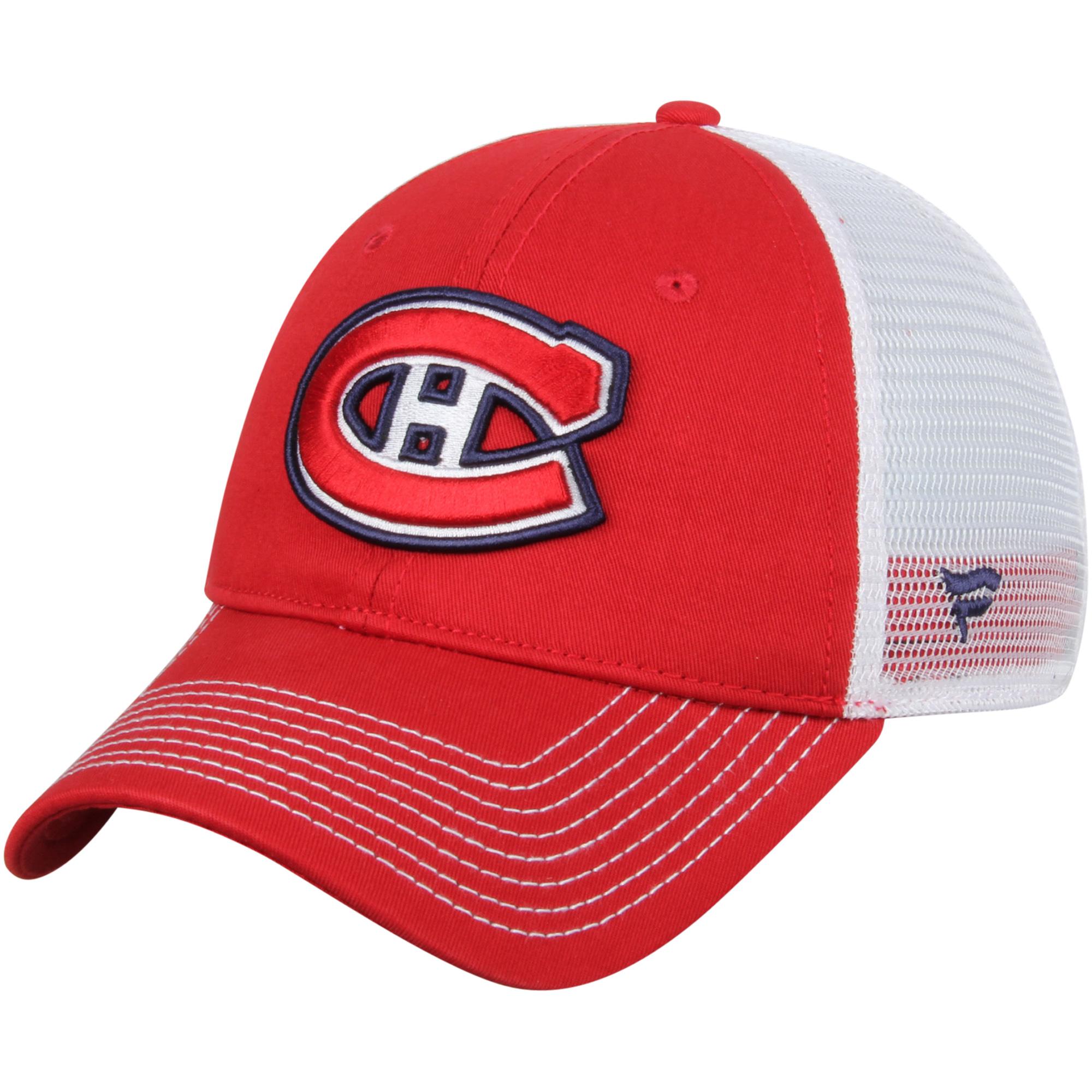 Montreal Canadiens Core Trucker Adjustable Snapback Hat - Red - OSFA