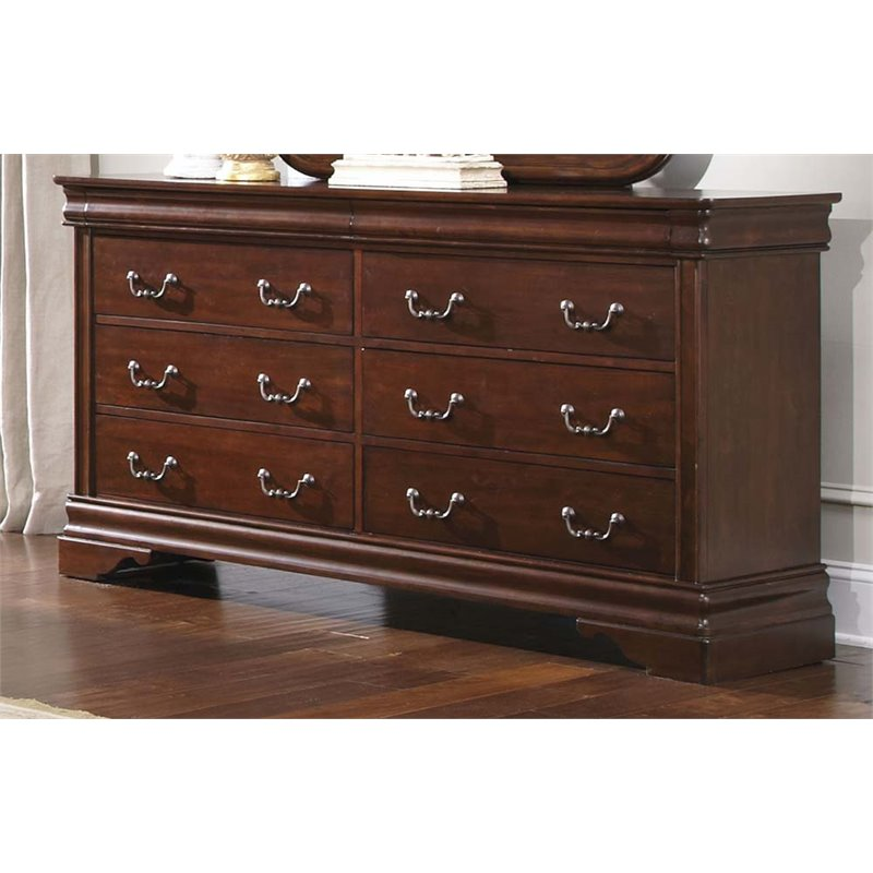 Liberty Furniture Carriage Court 8 Drawer Dresser in Mahogany Stain
