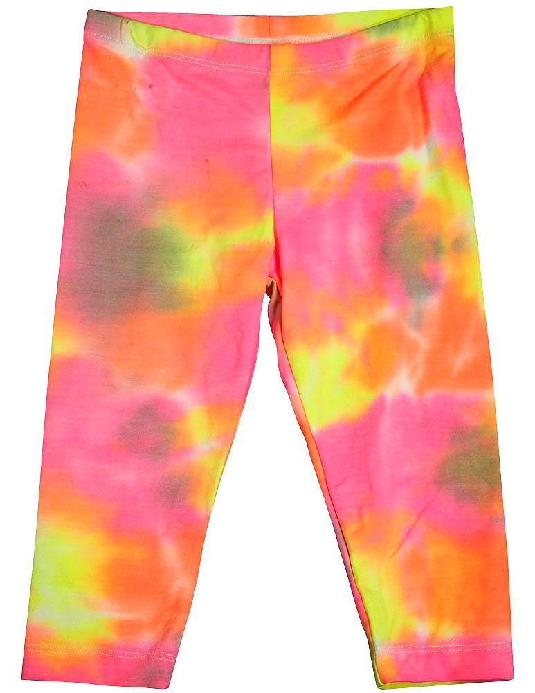 Flowers by Zoe - Little Girls Capri Legging - Tie Dye and Prints Pastel Tie Dye / 12