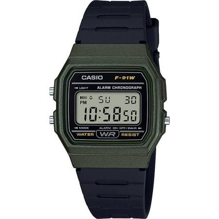 F?Çæ91WM?Çæ3AEF Digital Silicone Watch in