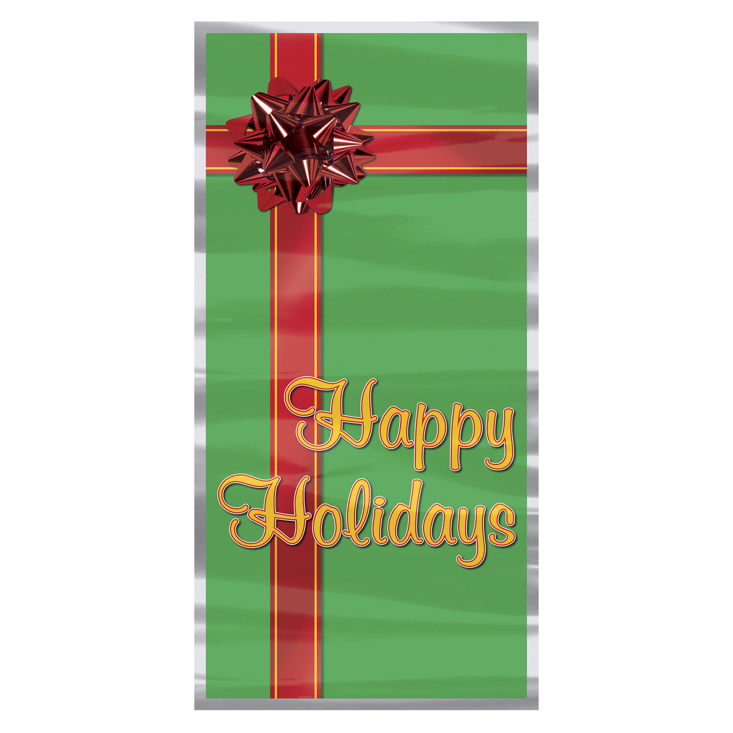 Christmas Present Door Cover: Christmas Happy Holidays Gift Present Holiday Door Cover