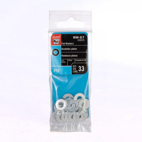 Bulldog Hardware #10 Flat Washers (33-pack)