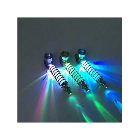 VICOODA Metal Pipe,Ultra-light Portable LED Aluminum Alloy Design Pipe,Pipe Cigarette box Accessories,Random Colors (Including Button Batteries)