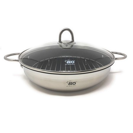 Stainless Roasting Pan (ELO Germany Platin Stainless Steel Induction Roasting Pan with Grill)